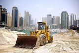 Construction tractor in Dubai, United Arab Emirates .