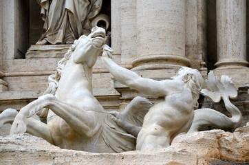 Cavallo agitato, Fontana di Trevi, Roma