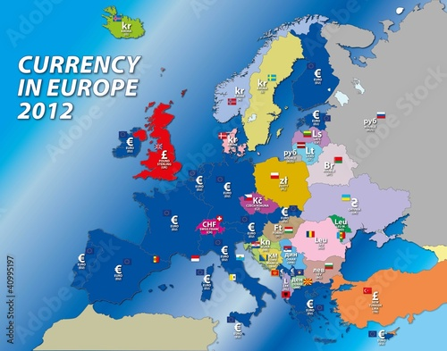 european currency map