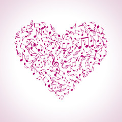 heart made of musical symbols