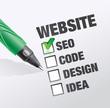 création de site : SEO, code, design et idée