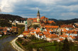 Spring view of Cesky Krumlov. Czech republic