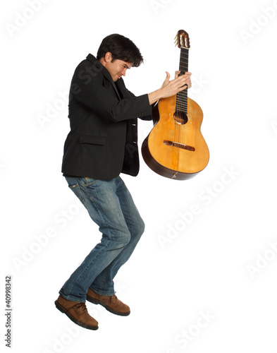 Guitar Player Jumping