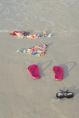 Skinny Dipping Bikini on Beach
