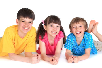 Happy brothers and sister