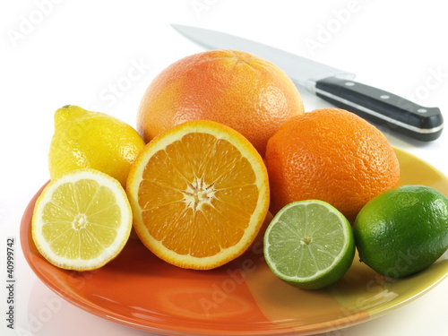 Healthy eating - tropical fruits for breakfast