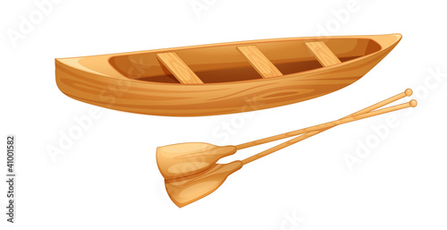 Canoe on white