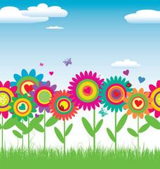 Seamless Floral card vector illustration
