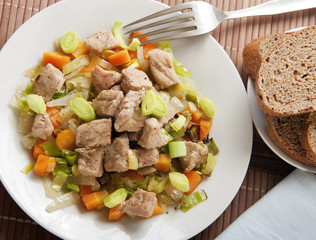 spring pork with vegetable