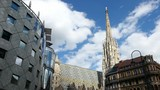 The Vienna Stephansdom with the so called Haas-Haus opposite