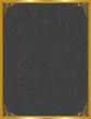 Gri kumaş ve işlemeli altın çerçeve