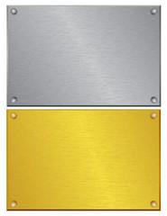 plaque d'entreprise en cuivre et laiton brossé