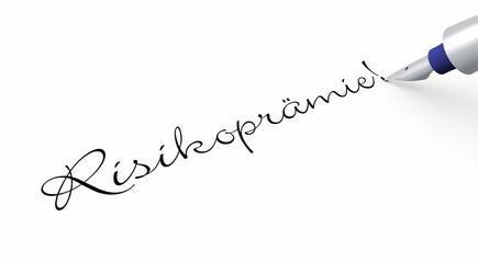 Stift Konzept - Risikoprämie!