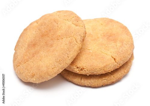 shortbread cookies isolated on white