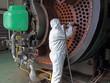 Leinwandbild Motiv Industrial Steam Boiler clean