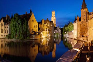 Rozenhoedkaai in Bruges, Belgium