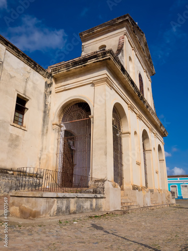 The Cathedral on the  colonial town of Trinidad in Cuba