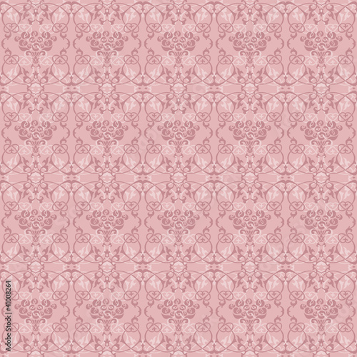 Wall mural floral seamless pattern ash pink color photo for Ash wallpaper mural