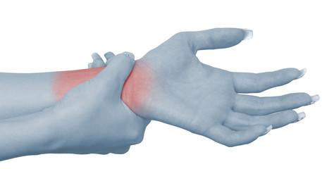 Pain in a woman wrist