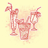 Alcohol drinks icons