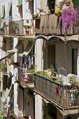 Hinterhof eines Wohnhaus in Barcelona