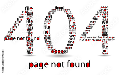 404 file error, typographic illustration