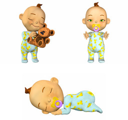 Cartoon Baby Pack 1of2