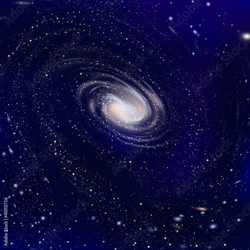 広がる銀河