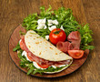 piadina con ingredienti
