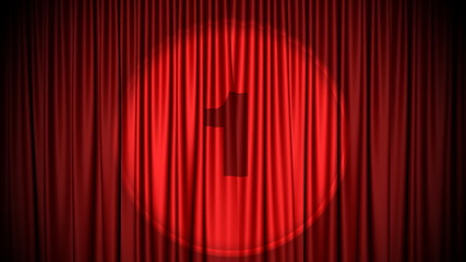 Red curtain countdown