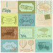 Scrapbook Paper Tags and Design Elements - Vintage Transportatio