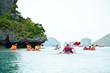 traveler kayaking in the Gulf of Thailand