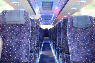 inside of new bus