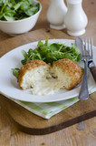 Cod fish cakes with watercress