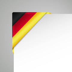 germany glossy flag corner vector illustration