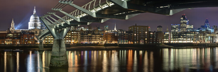 Panorama Millennium bridge London Großbritanien