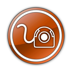 "Orange Glossy Button ""Web Cam"""