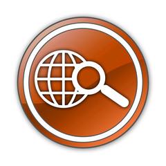 """Orange Glossy Button """"Search"""""""