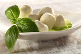 basil and mozzarella