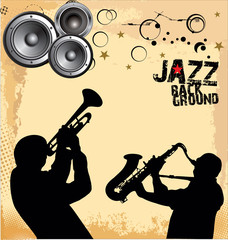 Jazz music grunge  background