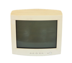 old monitor from your computer on a white background