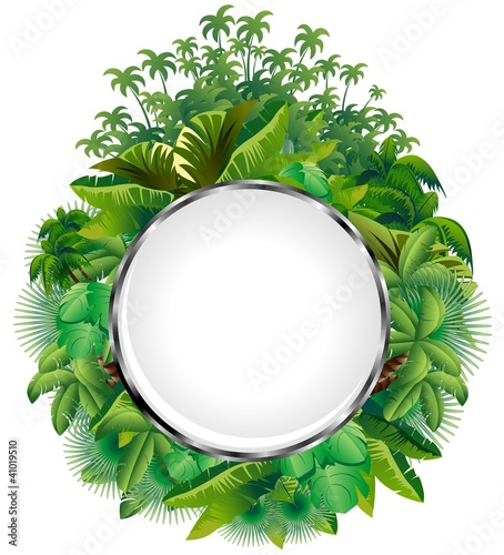 Vegetazione Tropicale-Icona di Cristallo-Tropical Plants Icon
