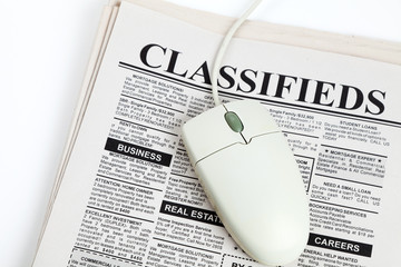 Classified Ad and computer mouse