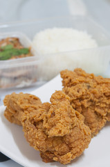 Fried chicken food