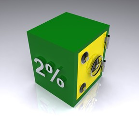 2 percent deposit bank safe