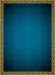 Osmanlı motifli altın çerçeveli mavi background