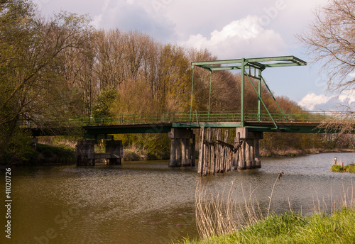 Small drawbridge in a natural landscape