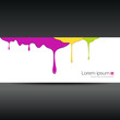 Banner colorful paint dripping, vector