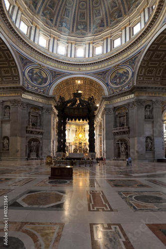 Interior of St. Peters Basillica in Vatican
