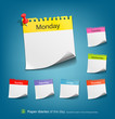 Colorful Paper note, vector